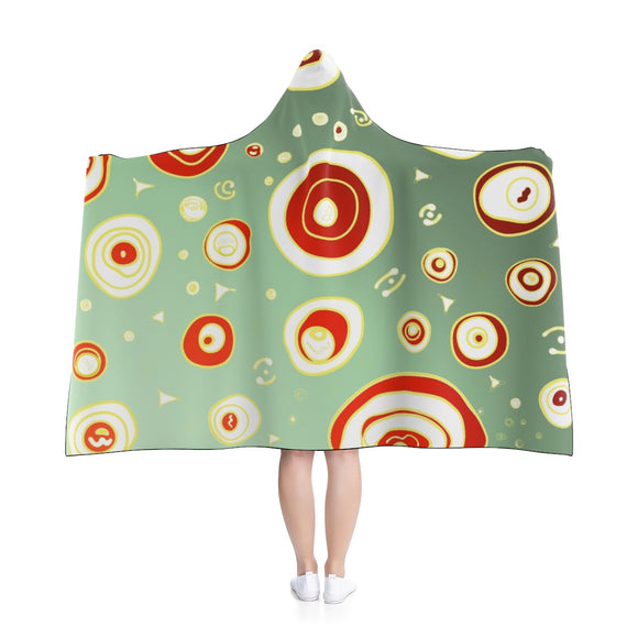 Geo Christmas Holiday Hooded Blanket (Adult Size)