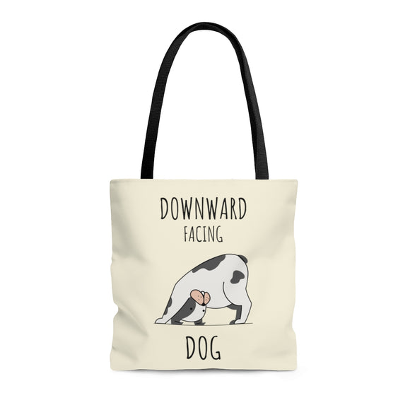 Downward Facing Dog Banana Cream Tote Bag (3 sizes)