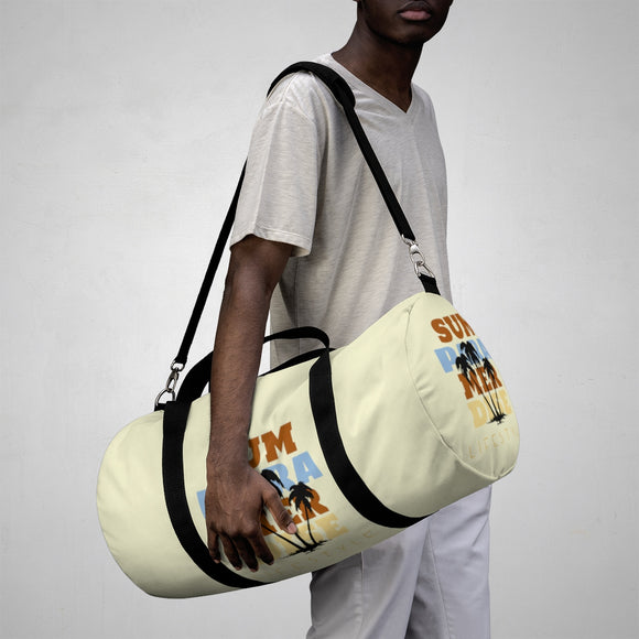 Summer Paradise (Light Yellow) Duffel Bags