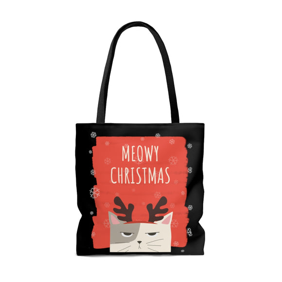 Meowy Christmas my Dear Kitty Tote Bag (3 sizes)