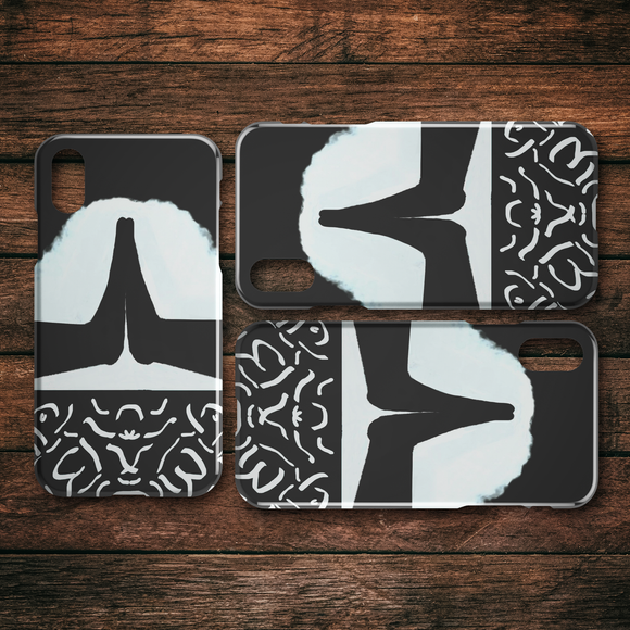Yoga Mountain Hands iPhone Cases--Series 6 - 11 Pro Max (Slim & Tough)