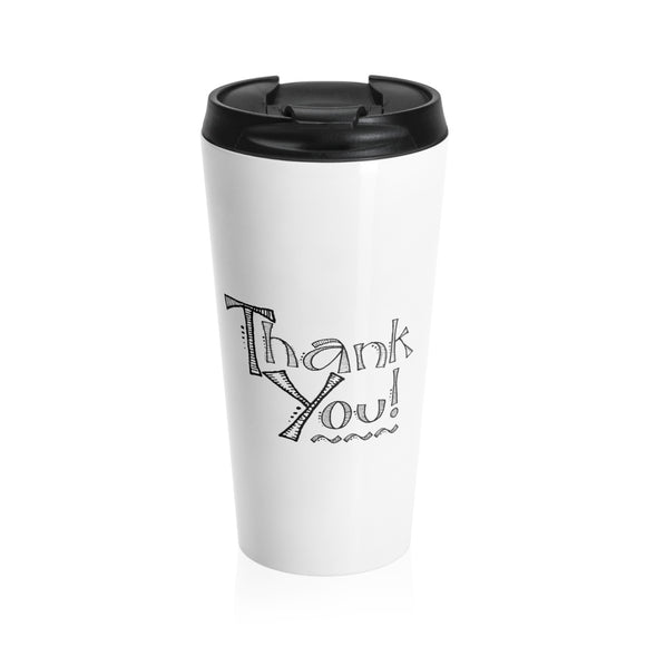 A Simple Thank You Stainless Steel 15 ounce Travel Mug