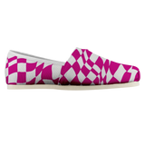 Pink Checker Sway Espadrille Casual Shoe (Sizes US 4.5-14)