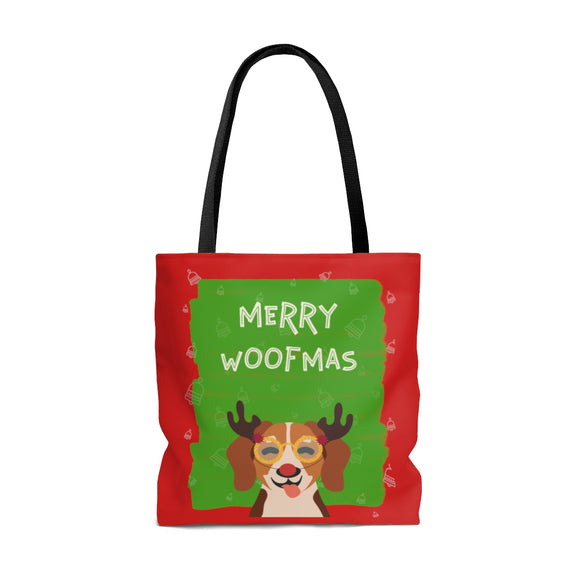 Merry Woofmas Terrier Tote Bag (3 sizes)