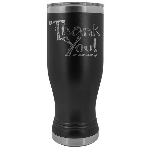 Thank You! 20 ounce BOHO Stainless Steel Tumbler (12 colors)