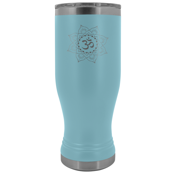 Yoga Lotus 20 ounce BOHO Stainless Steel Tumbler (12 colors)