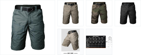 Tactical Cargo Shorts for Men