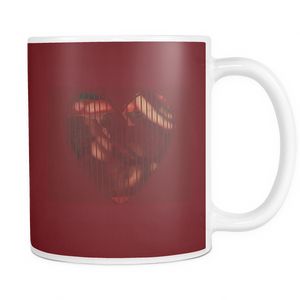 Shaded Heart Mug