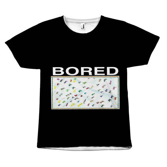 Are you Bored? t-shirt. Sizes Small to 3XL. US Sizes. Full price is $25.00.