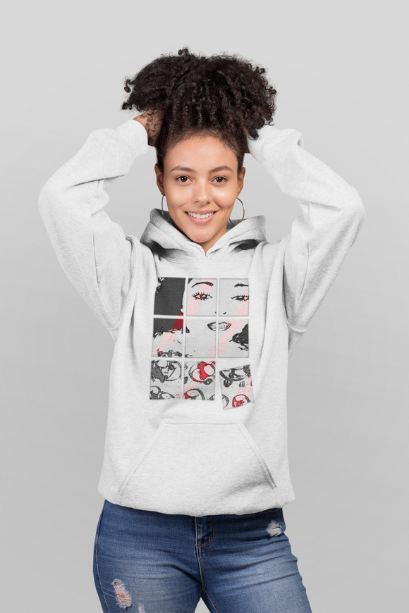 Ladies Made Up Heavy Blend™ Hooded Sweatshirt (White) Size S-2XL