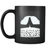 Mountain Hands 11 ounce Ceramic Black Mug