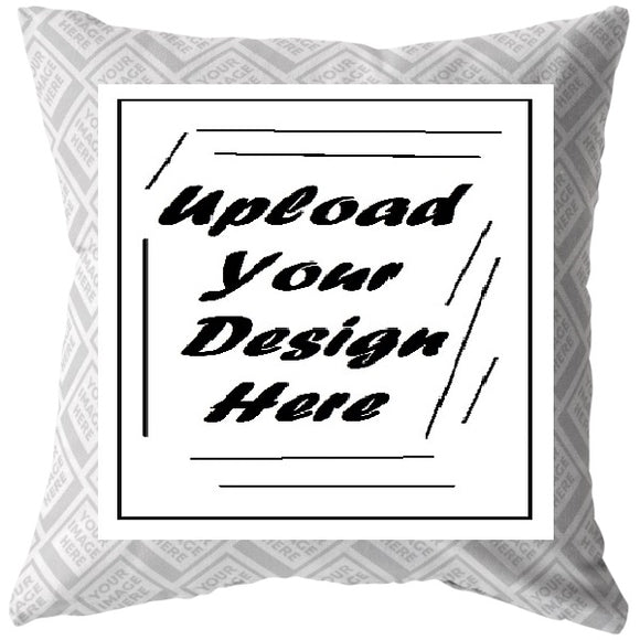 Basic Square Pillow (4 sizes)--Personalize with Your Own Image!