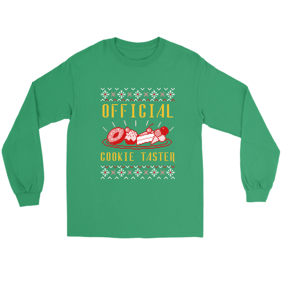 Official Cookie Taster Unisex Gildan Long Sleeve Kelly Green Tee (Size S-5XL)
