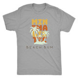 Minimalistic Beach Bum-Men's Next Level Triblend Tops