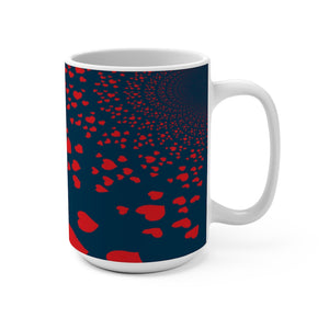 Our Hearts Spread 15 Ounce Ceramic Mug