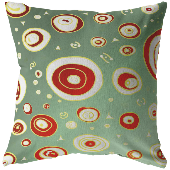 Geo Christmas Holiday Personalization Pillow (4 sizes)--Upload Your Own Image!