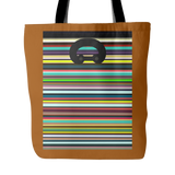 "Carlisle Tote-Tracks-brown mustard color. 18""x18"". Full price is $25.00"