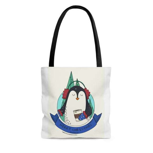 Merry Christmas Penguin Tote Bag (3 sizes)