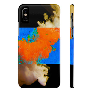 CC Explosion Com-Space on Slim iPhone X Phone Case