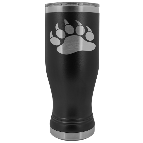Polar Bear Pawprint 20 Ounce BOHO Tumblers(12 Colors)