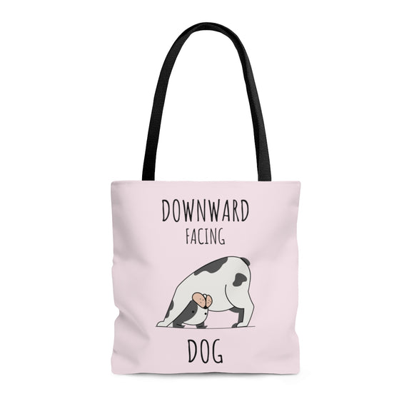 Downward Facing Dog Light Purple Tote Bag (3 sizes)