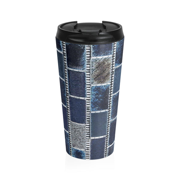 Blue Belt Travel Mug