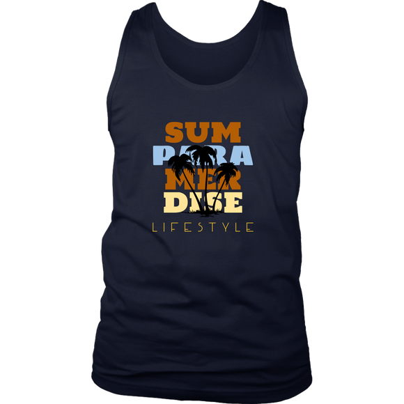 Summer Paradise Lifestyle-Men's District Tank