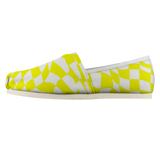 Yellow Checker Sway Espadrille Casual Shoe (Sizes US 4.5-14)