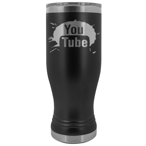 Youtube Logo 20 ounce BOHO Stainless Steel Tumbler (12 colors)
