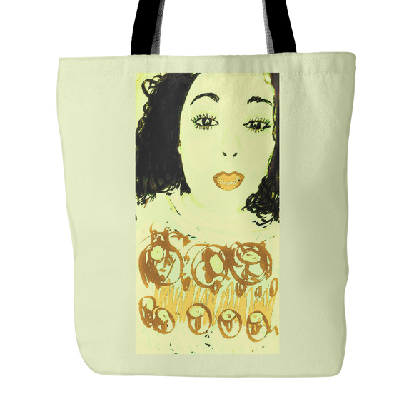 Made Up Face Tote Bag