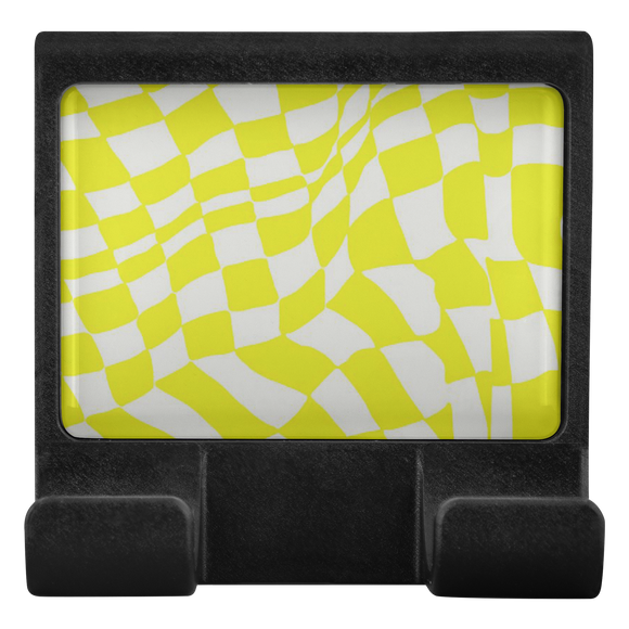 Checker Sway Computer Moniclip (Yellow)