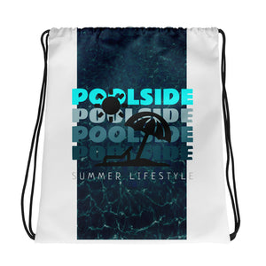 Poolside Summer Lifestyle Drawstring Bag