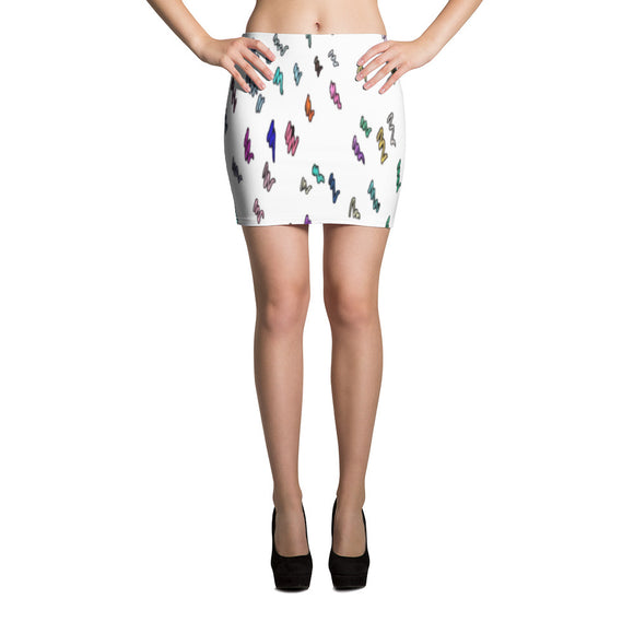 Scribbles Mini Skirt