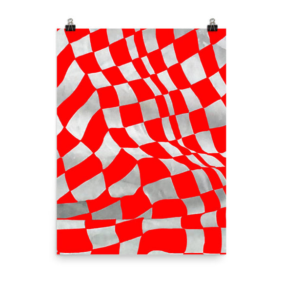 Red Checker Wrap