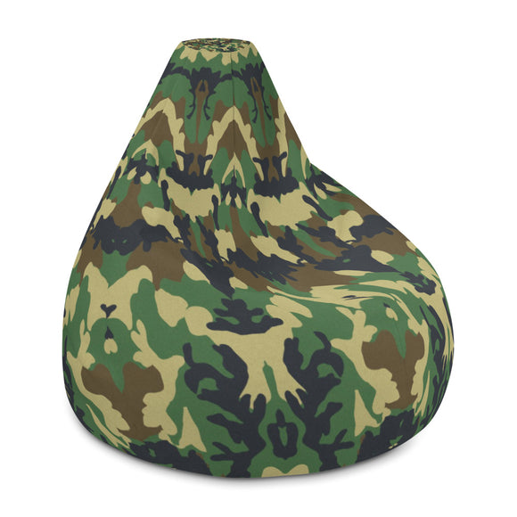 Woodland Green Camouflage Bean Bag Chair w/ filling