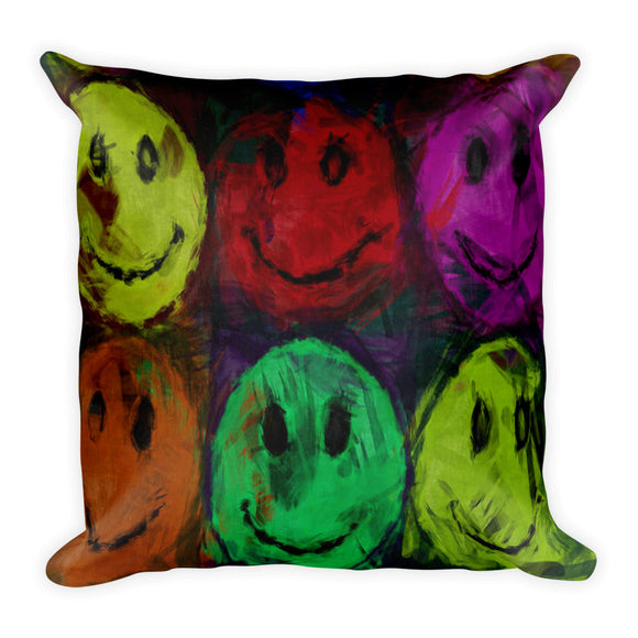 Live Happier in Colours Pillow