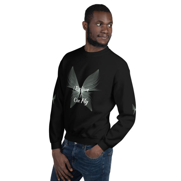 I Believe I Can Fly Unisex Sweatshirt (2 Colors) Sizes S-5XL--Personalization