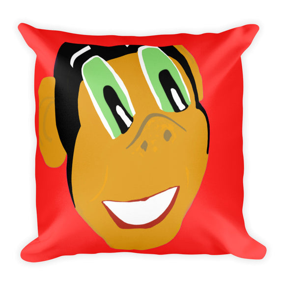 Miss Dee's Happy Place Pillow (red)
