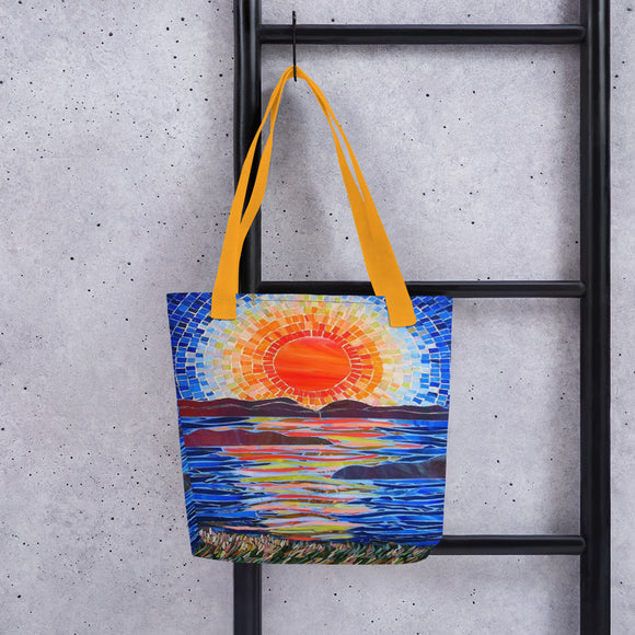 Sun Over Lake Tote Bag