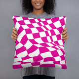 Pink Checker Sway Stuffed Pillows