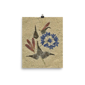 Pressed Dry Flower Poster