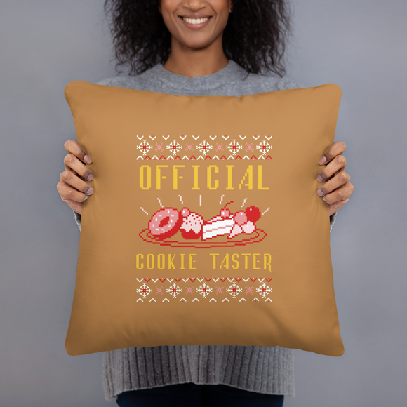 Official Cookie Taster Super Soft Stuffed Pillows (2 sizes)