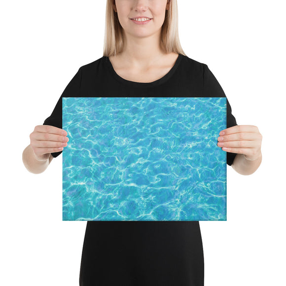 Add Your Own Style to Poolside Canvas (in)  4 sizes