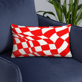 Red Checker Sway Stuffed Pillows