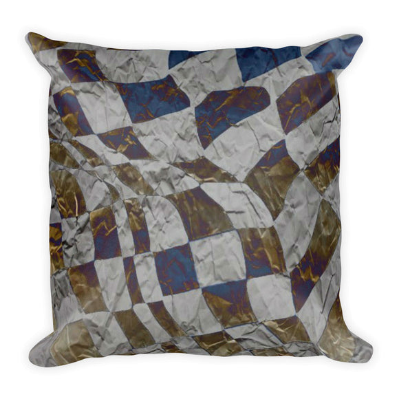 Ruffled Checker Square Pillow