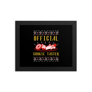 Official Cookie Taster Framed Poster(inches)--2 Sizes