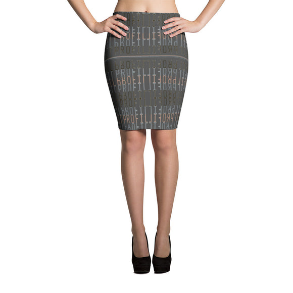 Profil Gray Pencil Skirt