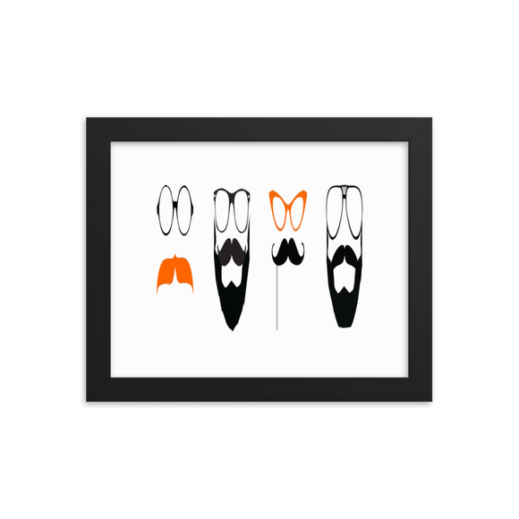 Movember Framed Posters (inches) 2 Sizes/Color Frames