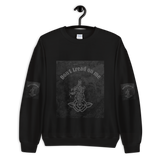 Don't Tread On Me Men's Black Sweatshirt (Size S-5XL)--Personalization
