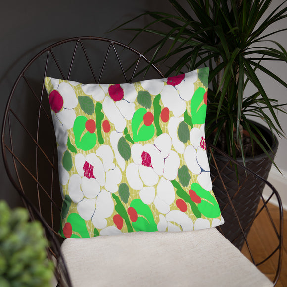 Flower Knitting (White) Stuffed Pillows